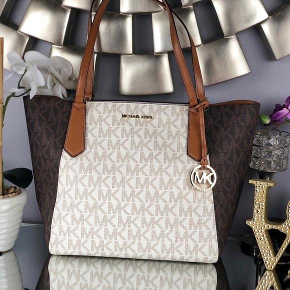 2ec73654df6a Michael Kors Bags | Kimberly Large Bonded Zipper Tote | Poshmark